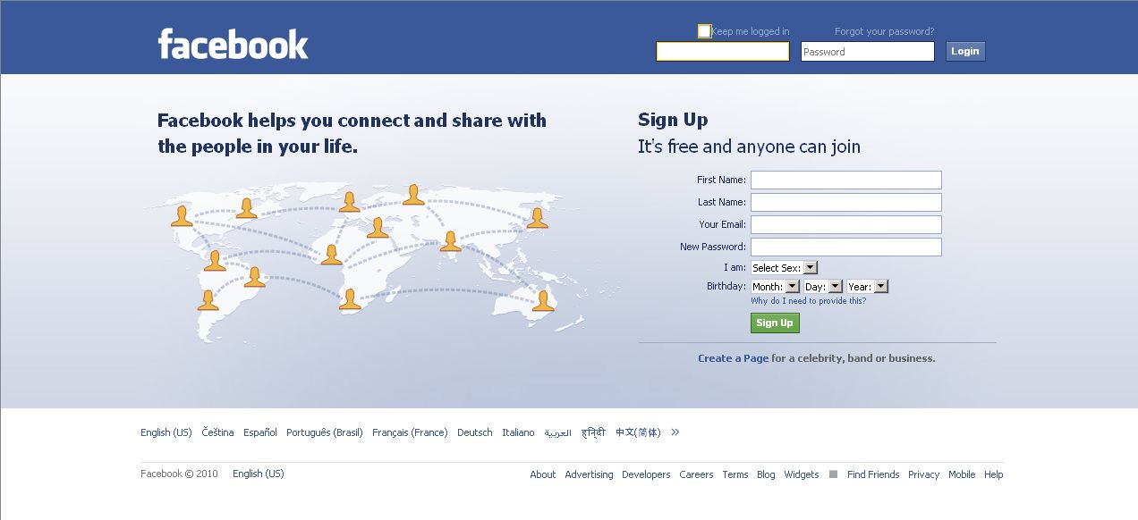 Facebook Com Home Page Sign In